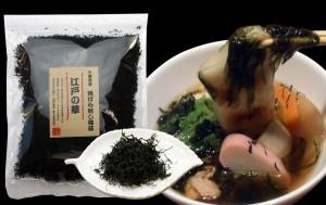 全国有数の海苔名産地、磯の香り良い千葉県産「江戸前」に限定した生海苔をオリジナル製法で海苔のうま味を煉り込んだ香り良い海苔です。独自の揉捻機で旨味を閉じ込め焼上げたふりかけタイプの海苔で,味噌汁に入れると華が咲くように増える焼ばら干しです。酒の肴としておつまみやパスタ、ピザ等にシーフードソースとしても最適です。
